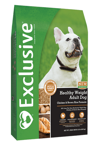 Exclusive® Healthy Weight Adult Dog Chicken & Brown Rice Formula Dog Food