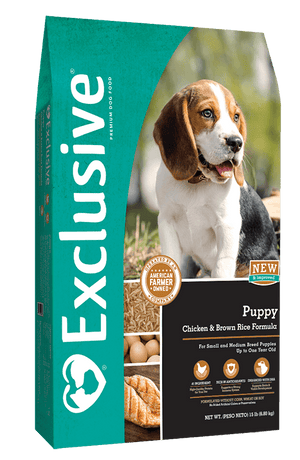 Exclusive® Puppy Chicken & Brown Rice Formula Dog Food