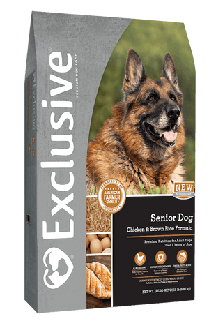 Exclusive® Senior Dog Chicken & Brown Rice Formula Dog Food