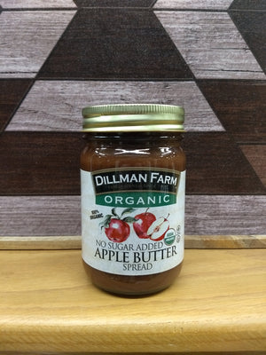 Dillman Farm Organic Apple Butter, No Sugar Added