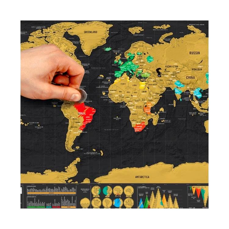 Scratch off world map must have for serious travelers fab doodads scratch off world map must have for serious travelers gumiabroncs Images