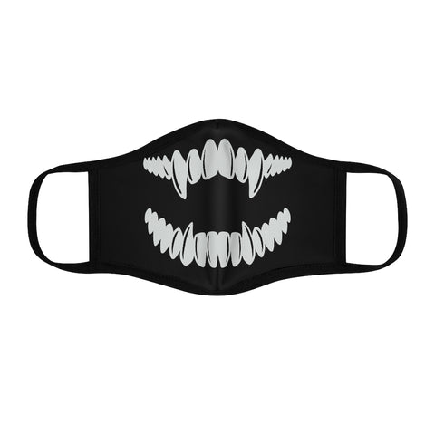 Fangs Fitted Polyester Face Mask