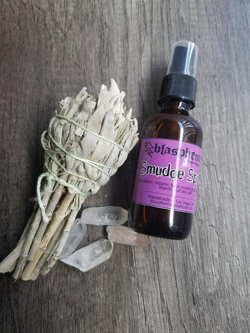 Blaspheme Boutique Quartz Infused Sage Smudge Spray