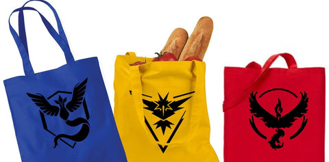 Pokemon Go Team Tote Bag- Pokemon Go Tote Bag