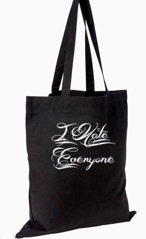 I Hate Everyone Canvas Tote Bag