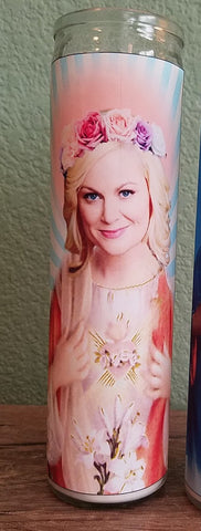 Amy Poehler Saint Candle - Leslie Knope Prayer Candle