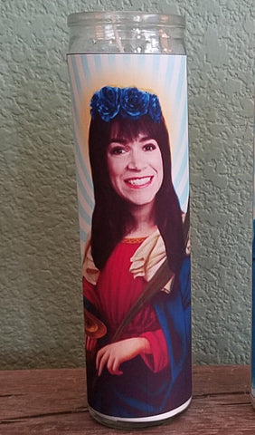 Abbi Broad City Saint Candle- St. Abbi