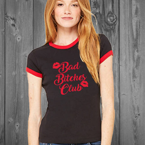 Bad Bitches Club Womens Ringer Tee