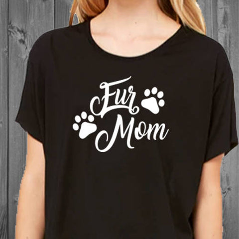 Fur Mom Boxy Womens Tee, Fur Mom shirt