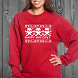 Metal Happy Holidays Ugly Sweatshirt
