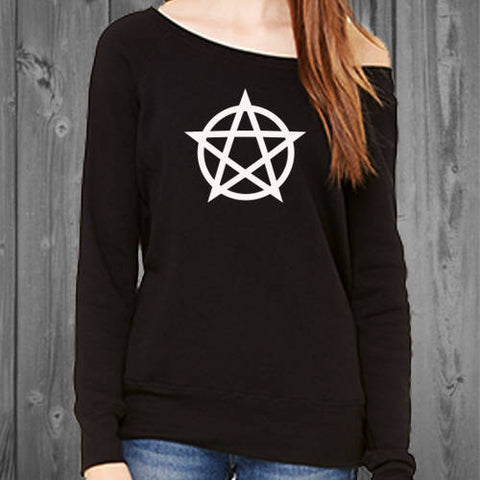 Pentacle Womens Off Shoulder Sweatshirt
