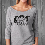 I Smell Children comfy off shoulder sweatshirt