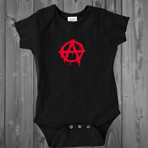 Anarchy Punk Rock Baby Bodysuit