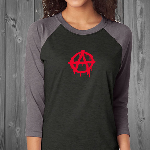 Anarchy Comfy Unisex Raglan Shirt