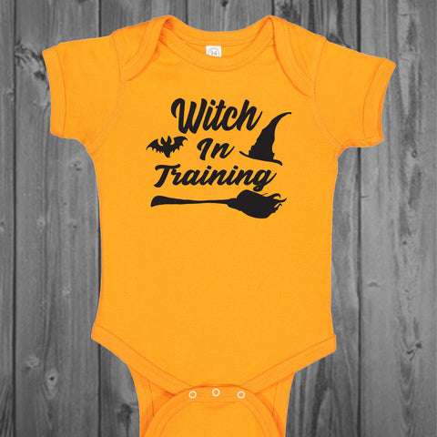 Witch In Training Baby Bodysuit