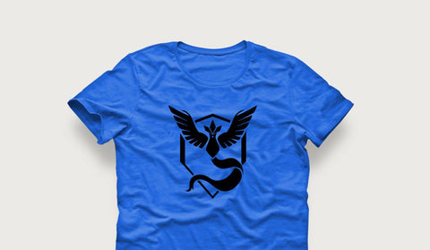 Pokemon Go Team Mystic Unisex Kids or Adult Shirt- Pokemon Go shirt