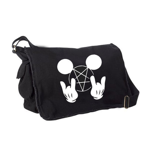 Metal Mouse Messenger Bag