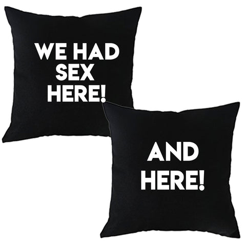We Had Sex Here, and Here Pillow Case Sets 16x16 or 18x18