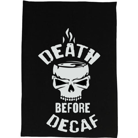 Death Before Decaf Kitchen Tea Towels - Set of 2