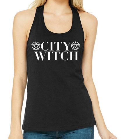 City Witch Women's Racerback Tank Top