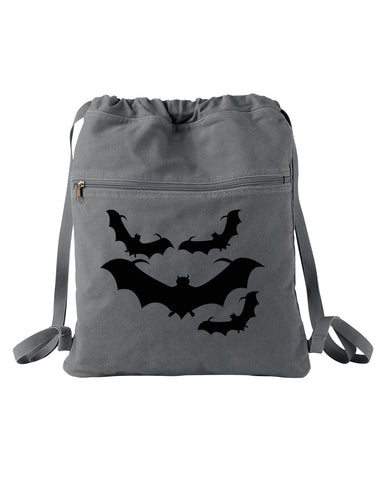Bats Canvas Cinch Bag