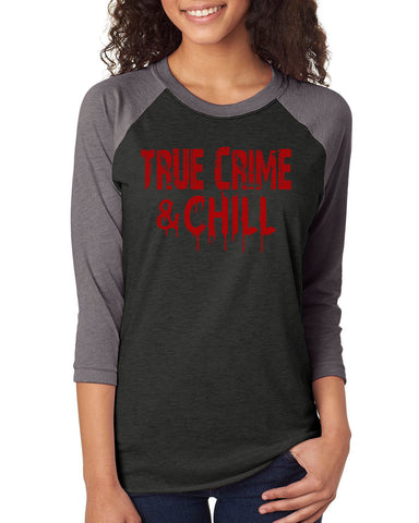 True Crime & Chill Unisex Raglan Jersey Top