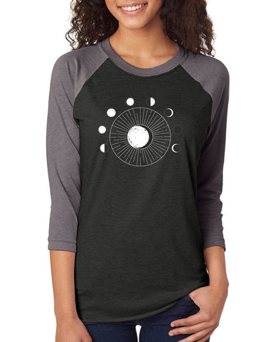 Moon Phase Unisex Raglan Jersey Top