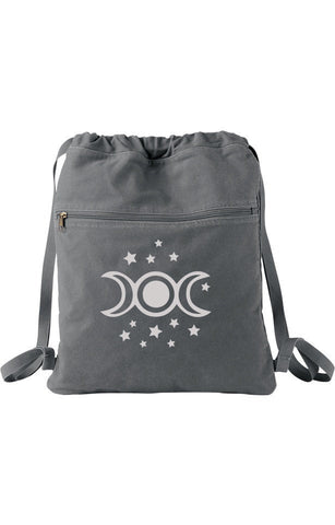 Triple Moon Goddess Cinch Backpack Bag