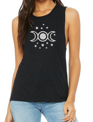 Triple Moon Goddess Muscle Tank