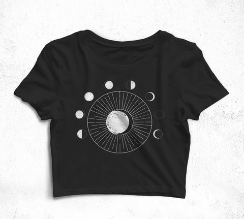 Moon Phase Crop T-Shirt