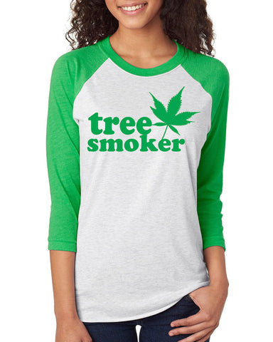 Tree Smoker Unisex Raglan Jersey Top