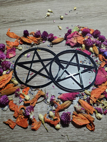 Pentagram Large Drop Earrings