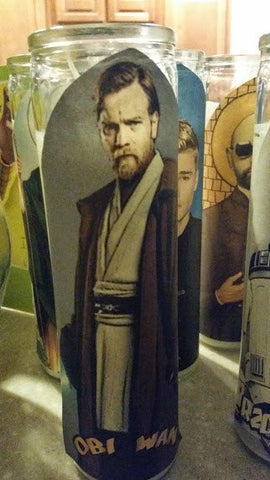 Obi Wan Saint Candle - Obi Wan Prayer Candle Star Wars