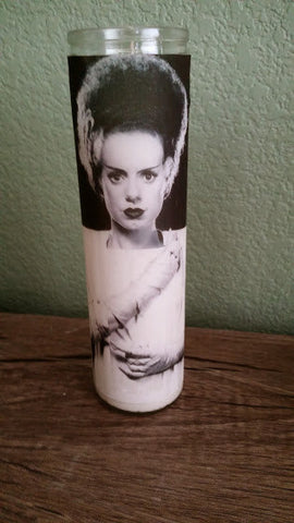 Bride of Frankenstein Novena Candle -Saint Candle