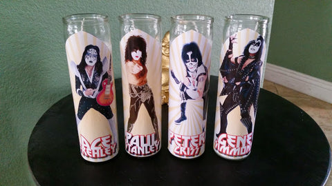 Kiss Prayer Candle Set- Gene, Paul, Peter, Ace