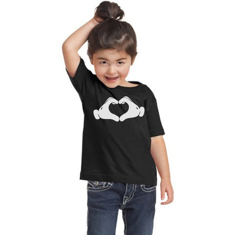 Mickey Mouse Heart Hands Youth/Toddler Shirt