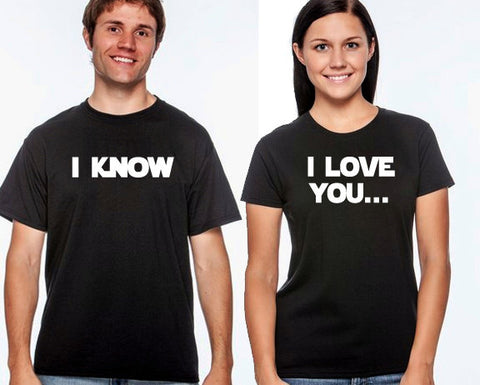 I love you, I know couples t-shirt set