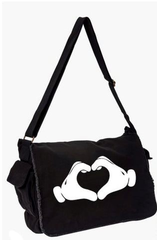 Mickey Mouse Heart Hands Messenger Bag