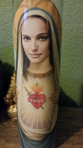 Natalie Portman Saint Candle-Prayer Candle