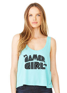 Gamer Girl  Flowy Crop Tank Top