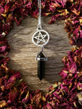 Pentacle Crystal Point Necklace