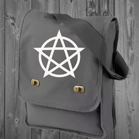 Pentacle Canvas Cross Body  Bag