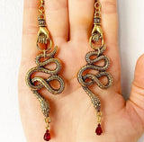 The Snake Hand Earrings