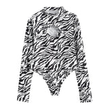 Zebra Long Sleeve Bodysuit