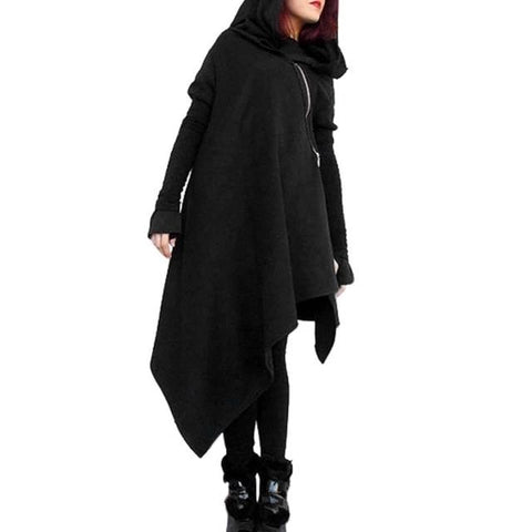 Asymmetrical Hooded Tunic