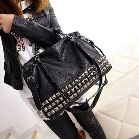 Rivets Large Boho Bag