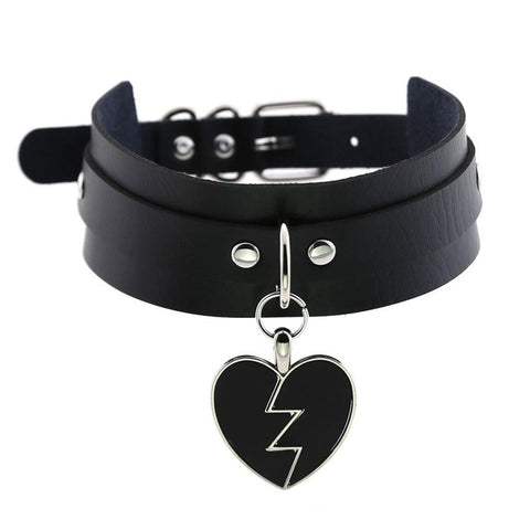 Broken Heart Collar Choker