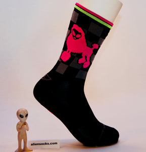 weird and funky alien double dawg cycling sock
