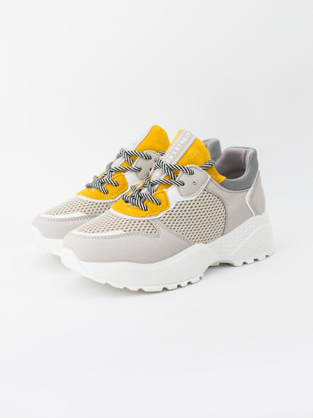 Zapatillas Abby Gris y Amarillo
