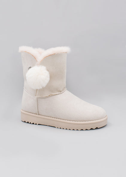 Botines Snow New Beige